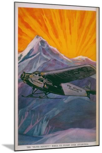 The 'Floyd Bennett' Wings its Way over Antarctica--Mounted Giclee Print