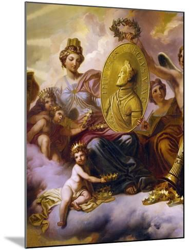 Effigy of Charles V Being Carried in Triumph--Mounted Giclee Print