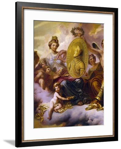 Effigy of Charles V Being Carried in Triumph--Framed Art Print