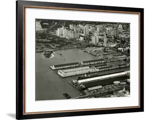 The Port of Miami with the Freedom Tower--Framed Art Print