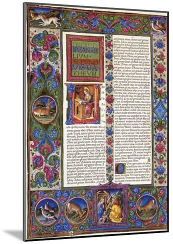 Incipit from Gospel According to Matthew--Mounted Giclee Print