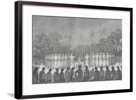 Night Dance Performed by Women in Honor of James Cook--Framed Art Print