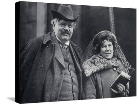G. K. Chesterton with His Wife Frances Blogg--Stretched Canvas Print
