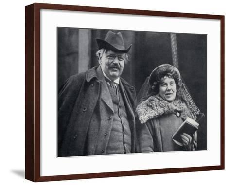 G. K. Chesterton with His Wife Frances Blogg--Framed Art Print