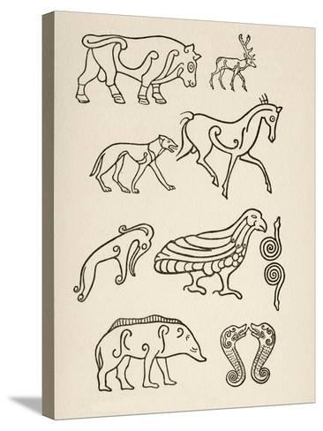 Cult Animals on Scottish Sculptured Stones--Stretched Canvas Print