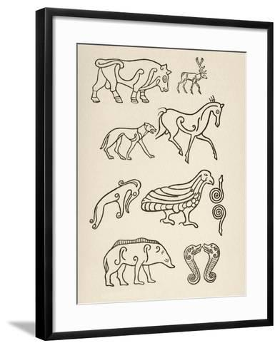 Cult Animals on Scottish Sculptured Stones--Framed Art Print