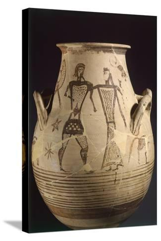 Biconical Krater by the Painter of the Eptacordo--Stretched Canvas Print