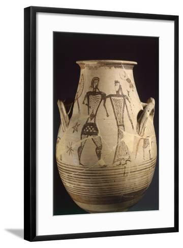 Biconical Krater by the Painter of the Eptacordo--Framed Art Print