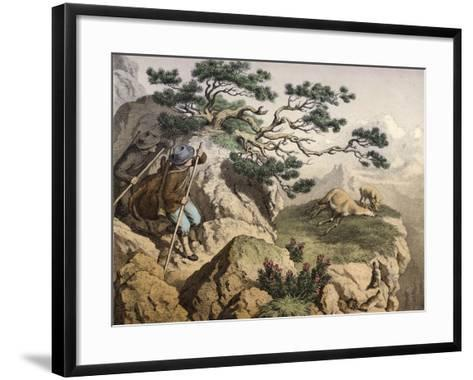 Chamois Hunters of the Alps--Framed Art Print