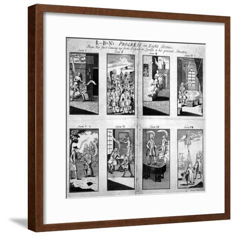Robin's Progress in Eight Scenes--Framed Art Print