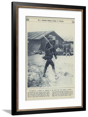 At a United States Camp in France--Framed Art Print