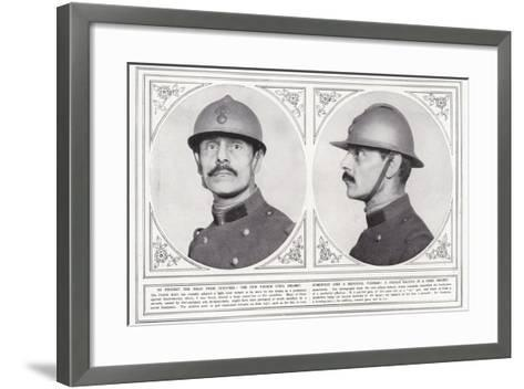 To Protect the Head from Shrapnel--Framed Art Print