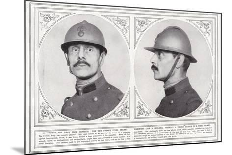 To Protect the Head from Shrapnel--Mounted Photographic Print