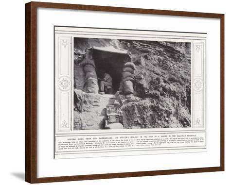 Writing Home from the Dardanelles--Framed Art Print
