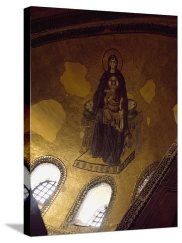 Mosaic Depicting Madonna and Child--Stretched Canvas Print