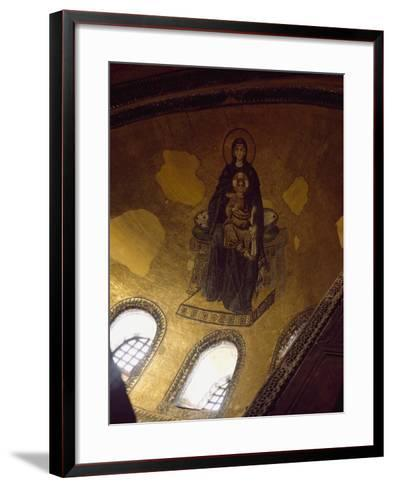 Mosaic Depicting Madonna and Child--Framed Art Print