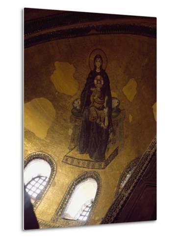 Mosaic Depicting Madonna and Child--Metal Print