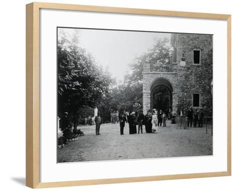 Giuseppe Verdi at His Birth House--Framed Art Print