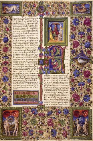 Incipit from First Book of Samuel--Stretched Canvas Print