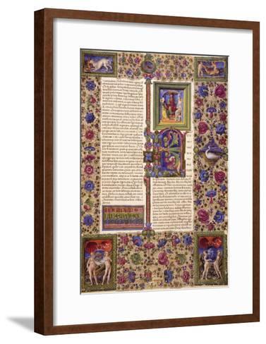Incipit from First Book of Samuel--Framed Art Print