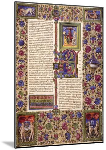 Incipit from First Book of Samuel--Mounted Giclee Print
