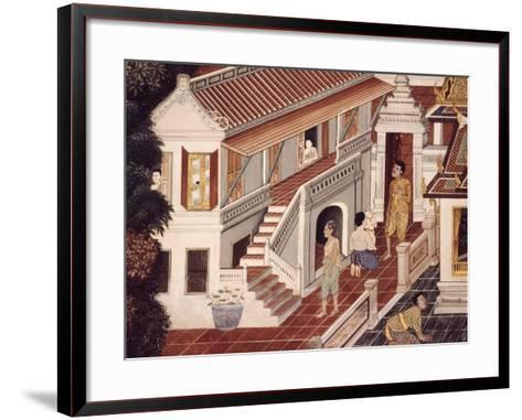 Detail from Stories of Ramakien--Framed Art Print
