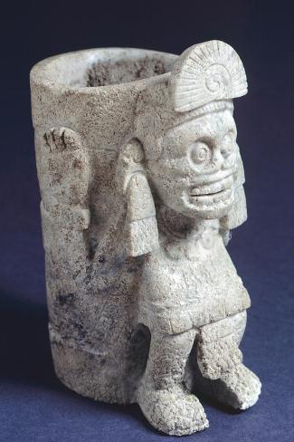 Vase Depicting Mictlantecuhtli--Stretched Canvas Print