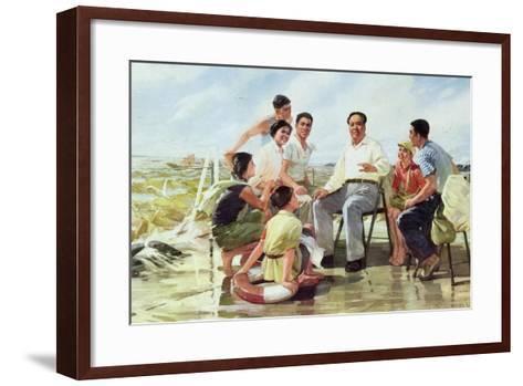 Closely Following Chairman Mao--Framed Art Print
