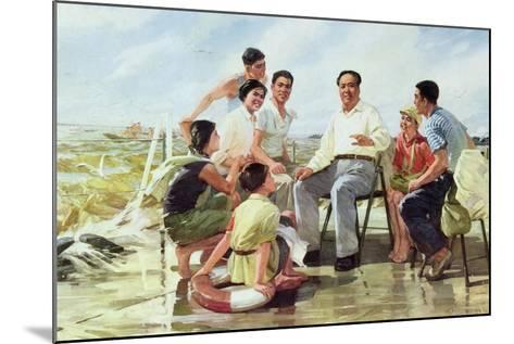 Closely Following Chairman Mao--Mounted Giclee Print