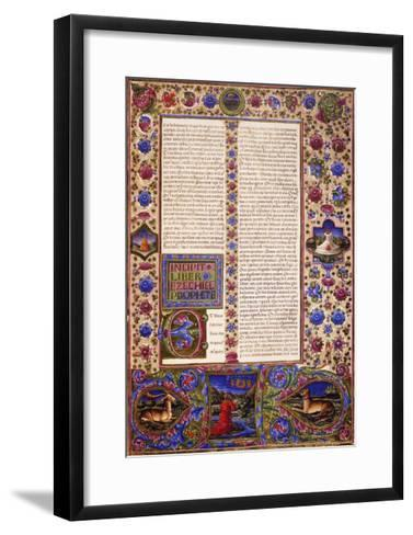 Incipit from Book of Ezekiel--Framed Art Print