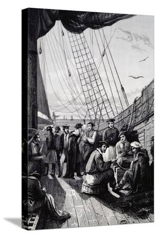 Crew of Corvette La Bonite--Stretched Canvas Print