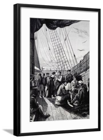 Crew of Corvette La Bonite--Framed Art Print
