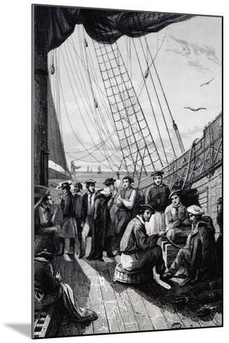 Crew of Corvette La Bonite--Mounted Giclee Print