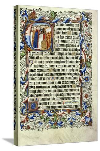 A Page from a Psalter in Latin--Stretched Canvas Print