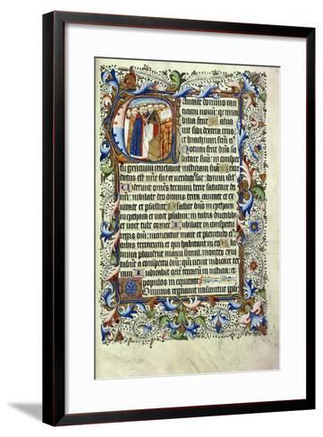 A Page from a Psalter in Latin--Framed Art Print