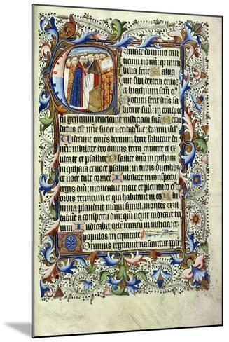 A Page from a Psalter in Latin--Mounted Giclee Print