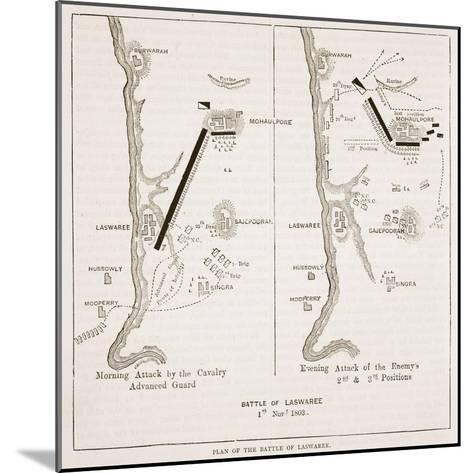 Plan of the Battle of Laswaree--Mounted Giclee Print