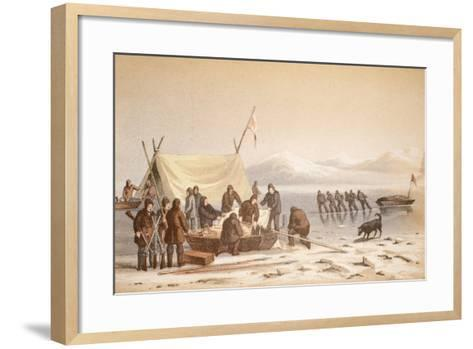 The Meeting in Wellington Channel--Framed Art Print