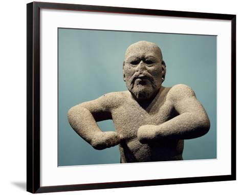 Statue Depicting a Fighter--Framed Art Print