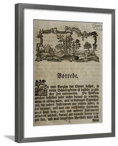 Introduction of Treaty on Harpsichord--Framed Art Print