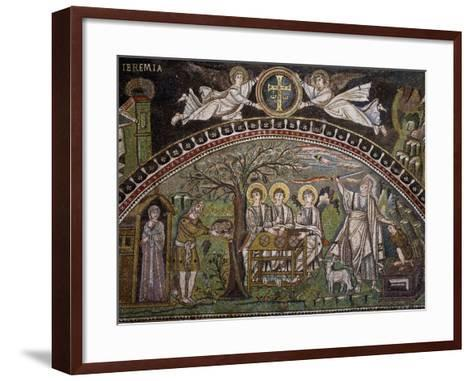 Angels with Apocalyptic Cross--Framed Art Print