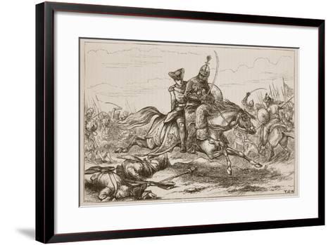Escape of Lieutenant Goreham--Framed Art Print