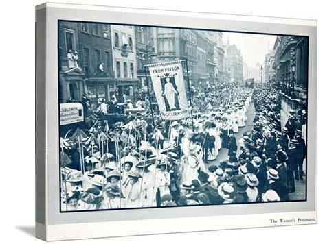 The Women's Franchise Demonstration--Stretched Canvas Print