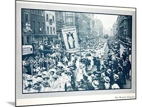 The Women's Franchise Demonstration--Mounted Photographic Print