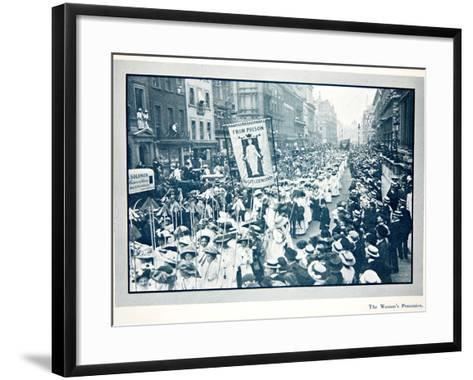 The Women's Franchise Demonstration--Framed Art Print