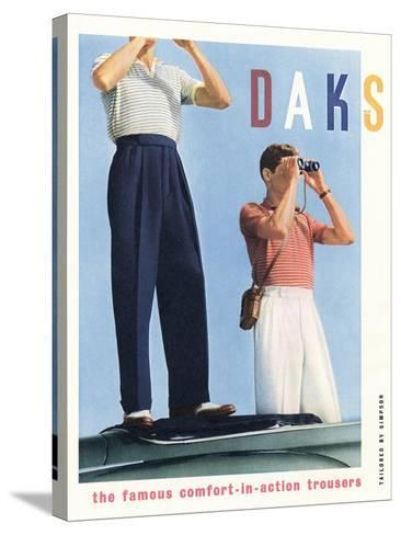 Advert for 'Daks' Trousers--Stretched Canvas Print