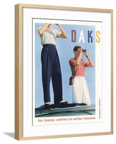 Advert for 'Daks' Trousers--Framed Art Print