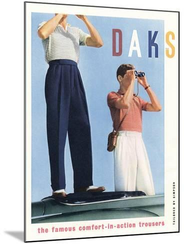 Advert for 'Daks' Trousers--Mounted Giclee Print