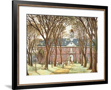 The College of William and Mary--Framed Art Print