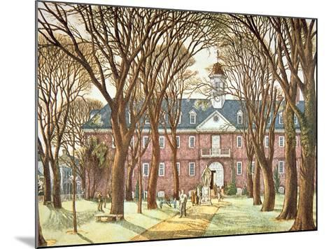 The College of William and Mary--Mounted Giclee Print